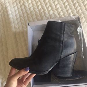 USED Dolce Vita black booties